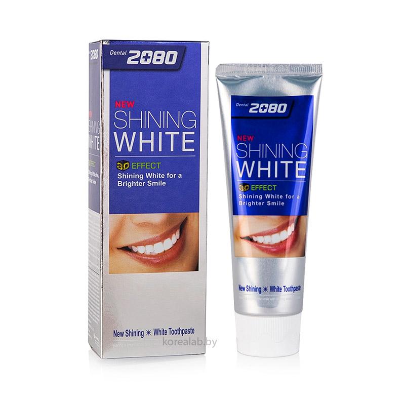 Отбеливающая зубная паста Dental Clinic 2080 New Shining White Tooth Paste 100 гр
