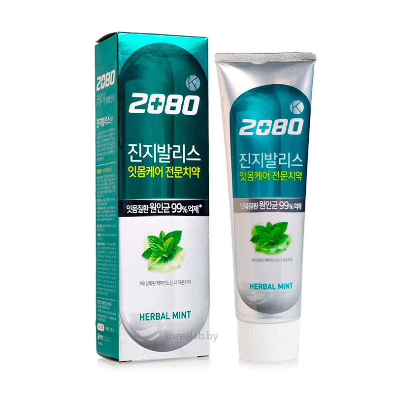Антибактериальная зубная паста с гинкго Dental Clinic 2080 K Gingivalis Herbal Mint 120 гр
