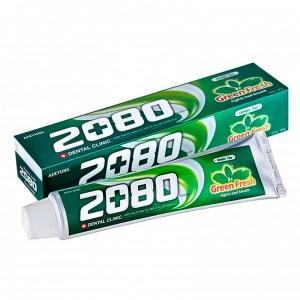 Зубная паста с зелёным чаем Dental Clinic 2080 Green Fresh Toothpaste 120 гр