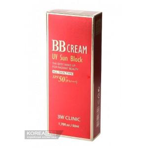 Солнцезащитный ВВ крем 3W CLINIC BB Cream UV Sun Block SPF50+ PA++ - 50ml