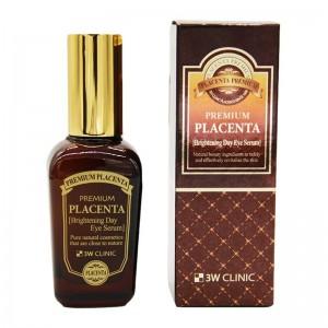 Сыворотка для век с плацентой 3W CLINIC Premium Placenta Brightening Day Eye Serum - 50ml