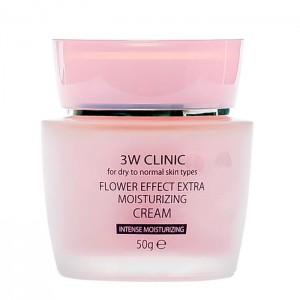 Увлажняющий крем для лица 3W CLINIC Flower Effect Extra Moisture Cream - 50ml