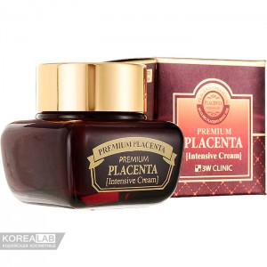 Крем для лица с плацентой 3W CLINIC Premium Placenta Intensive Cream 50 мл