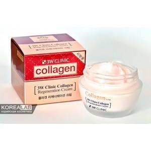 Восстанавливающий крем для лица с коллагеном 3W CLINIC Collagen Regeneration Cream - 60ml