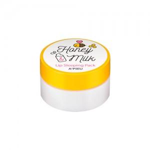 Ночная увлажняющая маска для губ A'PIEU Honey and Milk Lip Sleeping Pack - 7гр