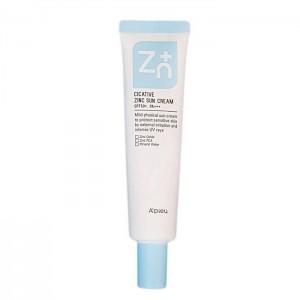 Солнцезащитный крем с цинком A'PIEU Cicative Zinc Sun Cream SPF50+ РА+++ - 40 гр