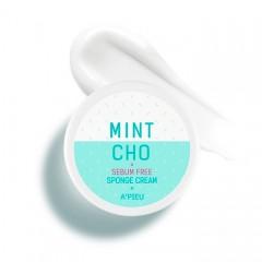Точечный крем-губка для жирной кожи A'PIEU Mintcho Sebum Free Sponge Cream - 50 гр