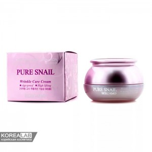 Антивозрастной крем муцином улитки BERGAMO Pure Snail Wrinkle Care - 50g