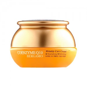 Антивозрастной крем с коэнзимом Q10 BERGAMO Coenzyme Q10 Wrinkle care Cream - 50g