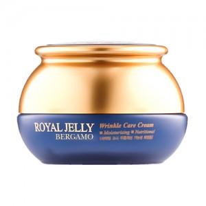 Омолаживающий питательный крем с маточным молочком BERGAMO Royal Jelly Wrinkle Care Cream - 50g