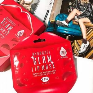 Гидрогелевый патч для губ с розой Beauugreen Hydrogel Glam Lip Mask Rose - 1 шт
