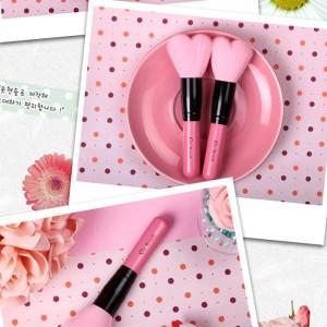 Кисть в виде сердца для сухих текстур CORINGCO Lovely Pink Heart Multi Volume Brush - 1 шт