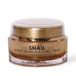 Антивозрастной крем с муцином улитки DERMAL Snail Nutrition Wrinkle Care Cream - 50g