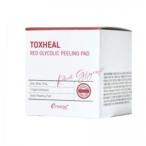 Пилинг-подушечки с гликолевой кислотой ESTHETIC HOUSE Toxheal Red Glycolic Peeling Pad 100 шт