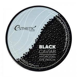 Гидрогелевые патчи для глаз с экстрактом черной икры ESTHETIC HOUSE Black Caviar Hydrogel Eye Patch 60шт