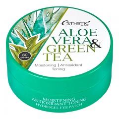 Гидрогелевые патчи для глаз с алоэ ESTHETIC HOUSE Aloe Vera and Green Tea Hydrogel Eye Patch - 60 шт