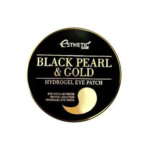 Гидрогелевые патчи для глаз с жемчугом и золотом ESTHETIC HOUSE Black Pearl & Gold Eye Patch - 60 шт.