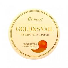 Гидрогелевые патчи для глаз с золотом и муцином улитки ESTHETIC HOUSE Gold & Snail Eye Patch - 60 шт.