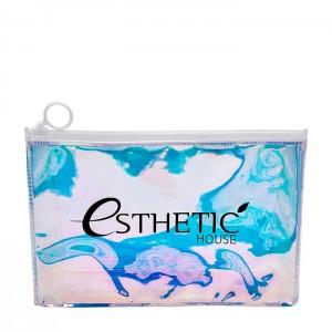 Голографическая косметичка-хамелион ESTHETIC HOUSE Holographic Cosmetic Bag - 1 шт