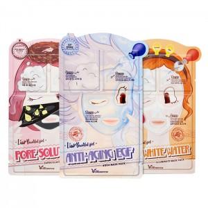 Трехступенчатые тканевые маски ELIZAVECCA Mask Pack