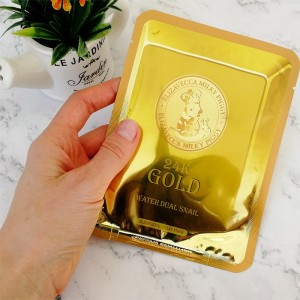 Тканевая маска с золотом и муцином улитки ELIZAVECCA 24K Gold Water Dew Snail Mask 25 мл