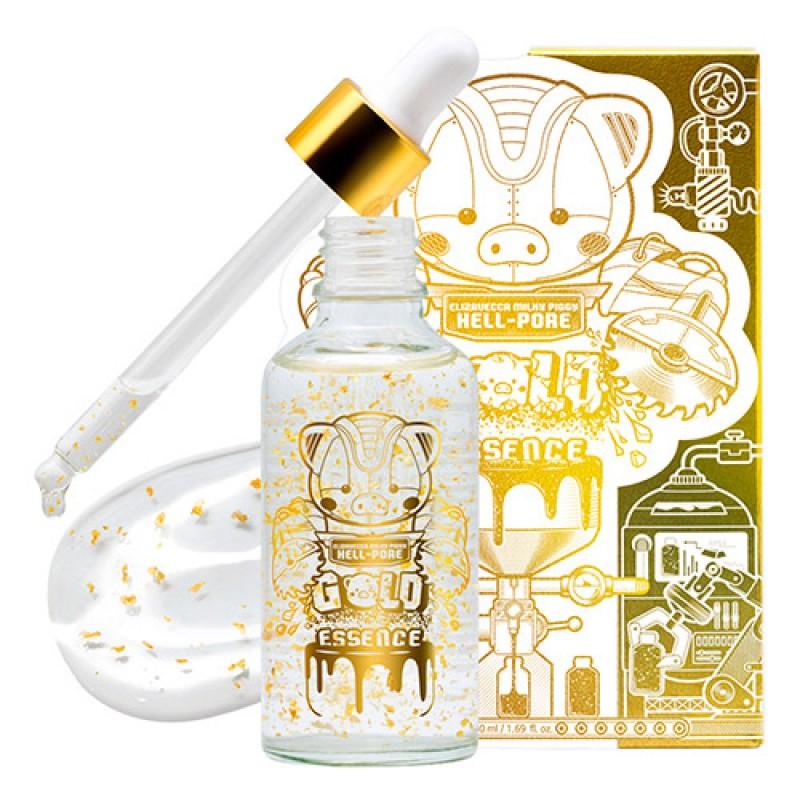 Увлажняющая эссенция с золотом ELIZAVECCA Milky Piggy Hell-Pore Gold Essence 50 мл