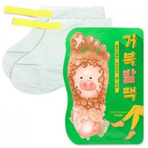 Отшелушивающие пилинг-носочки ELIZAVECCA Witch Piggy Hell Pore Turtle's Foot Pack 40 гр