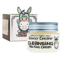 Очищающий крем с молоком ослиц ELIZAVECCA Donkey Creamy Cleansing Melting Cream - 100 мл