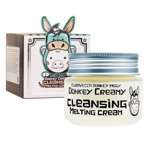 Очищающий крем с молоком ослиц ELIZAVECCA Donkey Creamy Cleansing Melting Cream 100 мл