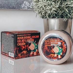 Увлажняющий крем ELIZAVECCA Milky Piggy Aqua Rising Argan Gelato Steam Cream 100 мл