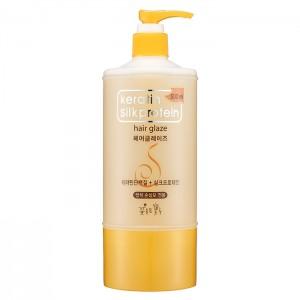 Глазурь для волос с кератином и протеинами шелка FLOR de MAN Keratin Silkprotein Hair Glaze - 500ml