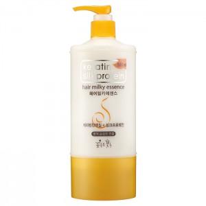 Питающая эссенция для волос с протеинами шелка Flor de Man Keratin Silkprotein Hair Milky Essence - 500ml