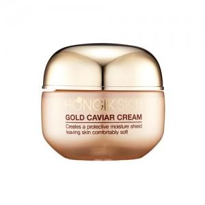 Омолаживающий осветляющий крем с золотом и икрой осетра HONGIK SKIN Gold Caviar Cream - 50ml