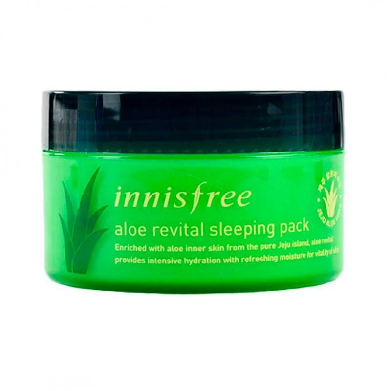 Ночная маска на основе сока алоэ INNISFREE Aloe Revital Sleeping Pack - 100 мл