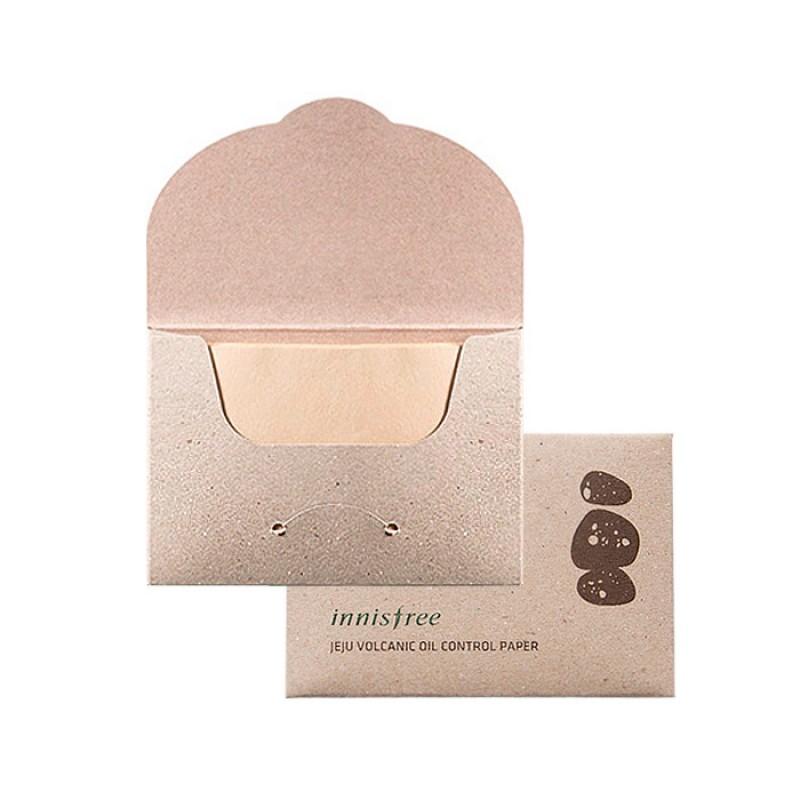 Матирующие салфетки для лица с вулканическим пеплом INNISFREE Jeju Volcanic Oil Control Paper - 50 шт