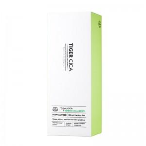 Успокаивающая пенка с центеллой IT'S SKIN Tiger Cica Green Chill Down Foam Cleanser 300мл