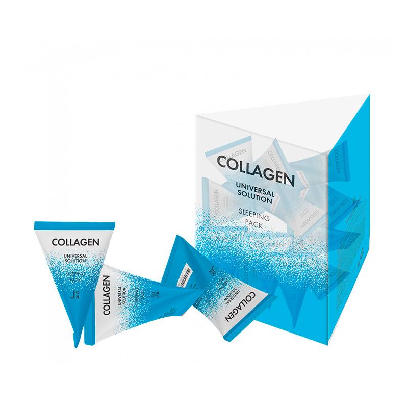 Ночная маска с коллагеном в пирамидке J ON Collagen Universal Solution Sleeping Pack 5 гр