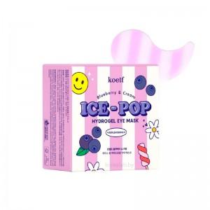 Гидрогелевые патчи для глаз с черникой KOELF Blueberry Cream Ice-Pop Hydrogel Eye Mask 60 шт