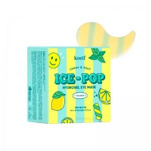 Осветляющие гидрогелевые патчи для глаз KOELF Ice-Pop Lemon Basil Hydrogel Eye Mask 60 шт