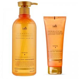 Укрепляющий шампунь для тонких волос LADOR Dermatical Hair-Loss Shampoo For Thin Hair 200/530 мл