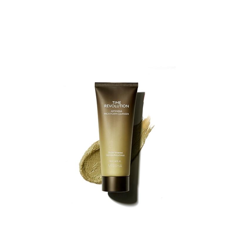 Миниатюра пенки-маски для лица MISSHA Time Revolution Artemisia Pack Foam Cleanser 30 мл