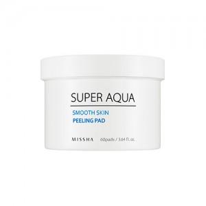 Пилинг-пады для очищения кожи лица MISSHA Super Aqua Smooth Skin Peeling Pad - 60 шт