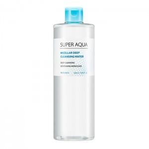 Мицеллярная вода для снятия макияжа MISSHA Super Aqua Micellar Deep Cleansing Water - 500 мл.