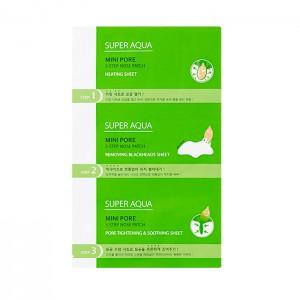 Очищающие трехступенчатые патчи для носа MISSHA Super Aqua Mini Pore 3-Step Nose Patch - 6,2 гр