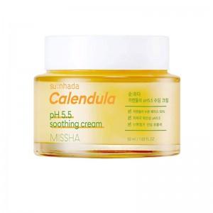 Крем для лица с экстрактом календулы MISSHA Su:Nhada Calendula pH Balancing Soothing Cream 50мл
