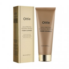Пенка для упругости кожи OTTIE Gold Prestige Resilience Refresh Foam Cleanser 150 мл