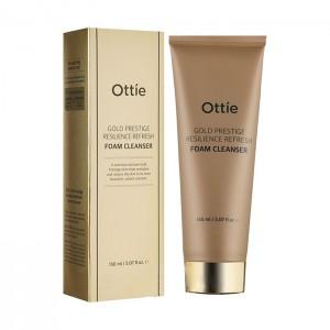 Пенка для упругости кожи OTTIE Gold Prestige Resilience Refresh Foam Cleanser 150 мл