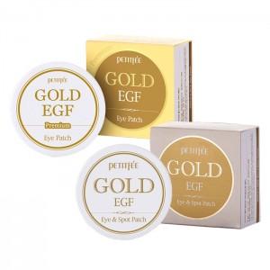 Гидрогелевые патчи для глаз с золотом и EGF PETITFEE Gold and EGF - 60+30 шт./60 шт.