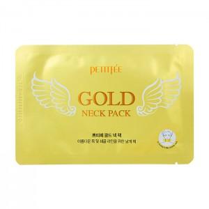 Гидрогелевый патчи с золотом для шеи PETITFEE Gold Neck Pack - 10g
