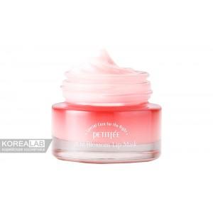 Маска для губ с маслом камелии PETITFEE Oil Blossom Lip mask Camelia - 15g
